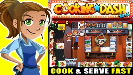 Cooking Dash 2016 Patch and Cheats money, gold, coins