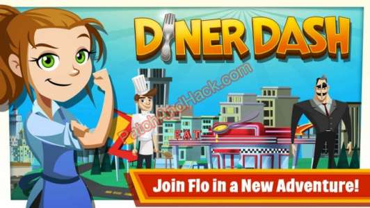 Diner Dash Patch and Cheats money,coins