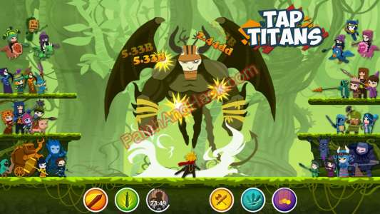 Tap Titans Patch and Cheats gold, money