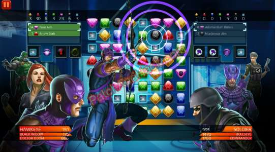 Marvel Puzzle Quest Patch and Cheats crystals, gold, coins