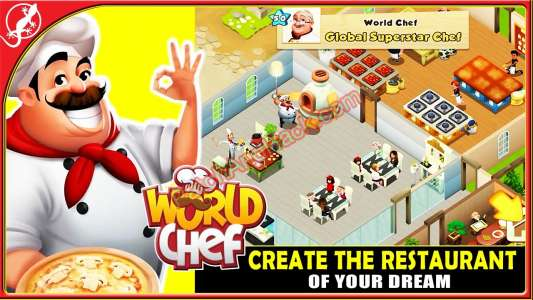 World Chef Patch and Cheats diamonds, money