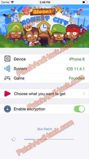 Bloons Monkey City Hack and patch