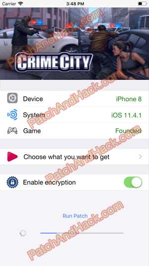 Crime City Hack and patch