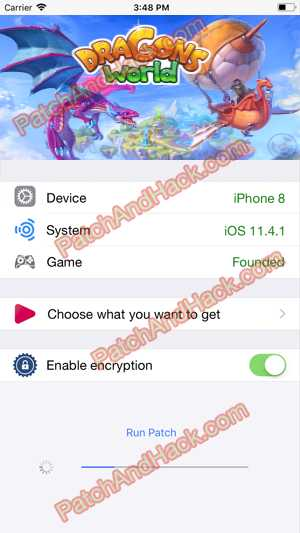 Dragons World Hack and patch
