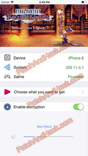 Final Fantasy Record Keeper Hack and patch