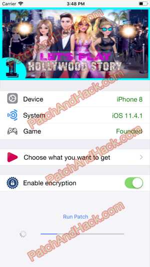 Hollywood Story Hack and patch