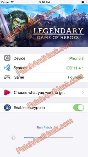 Legendary: Game of Heroes Hack and patch