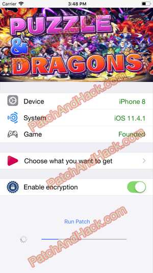 Puzzle and Dragons Hack and patch