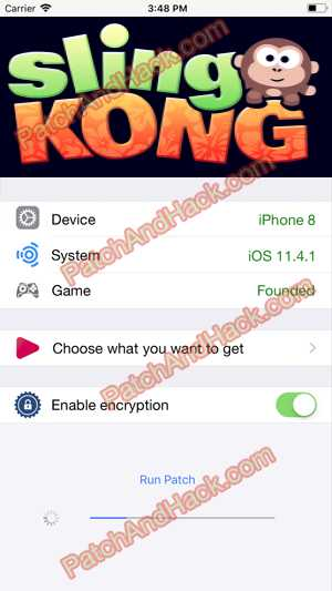 Sling Kong Hack and patch