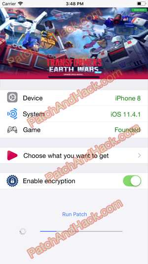 TRANSFORMERS: Earth Wars Hack and patch