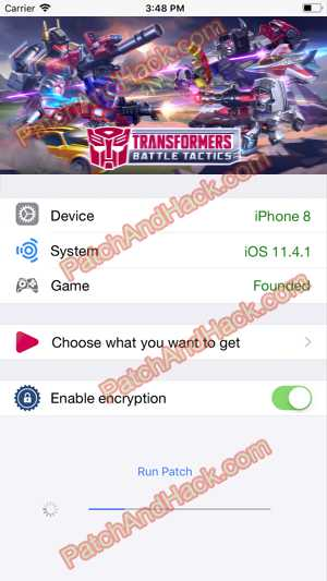 Transformers Battle Tactics Hack and patch